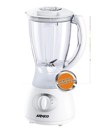 ARMCO ABL-722SX - Blender - 1.5 Litres - 4 Speed With Pulse - Blender - 350W - White & Silver