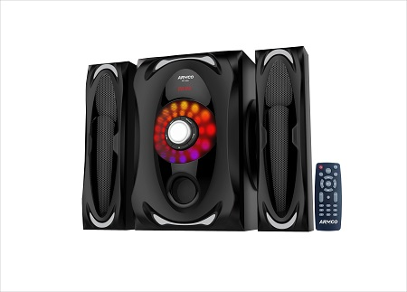 ARMCO AHT-6565 - 2.1 Ch - 4500W - SubWoofer - Bluetooth - Black