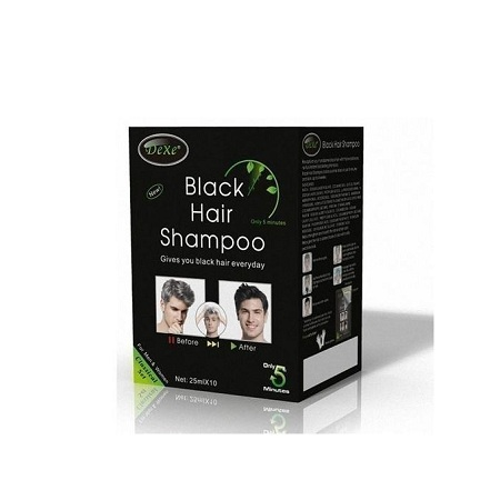 Dexe Instant Hair Dye Black Hair Shampoo Black Color