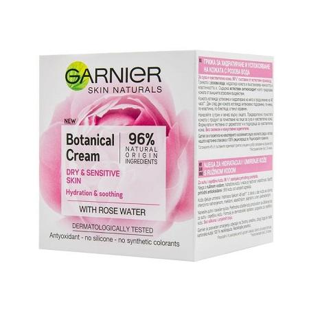 Garnier Botanical Cream, Dry & Sensitive Skin With Rose Floral Water
