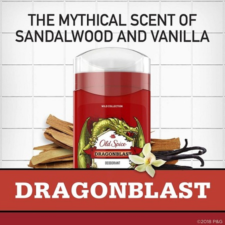 Old Spice Wild Collection Dragon blast Invisible Solid Deodorant