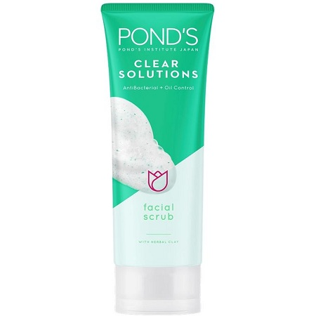 Pond's Clear Solutions Antibacterial+Oil Control Facial Scrub herbal