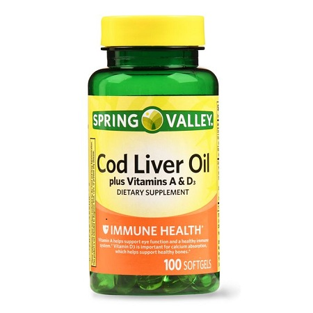 Spring valley Cod Liver Oil Plus Vitamin A&D3-boost Immunity