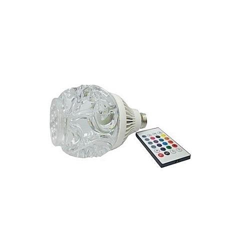 Wireless Bluetooth Light Bulb Music Audio Speaker Sound RGBW LED Lamp - white