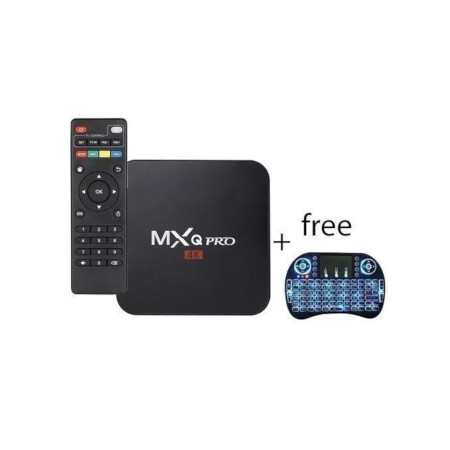 Mxq Pro TV Box + BackLit Mini Keyboard - Black
