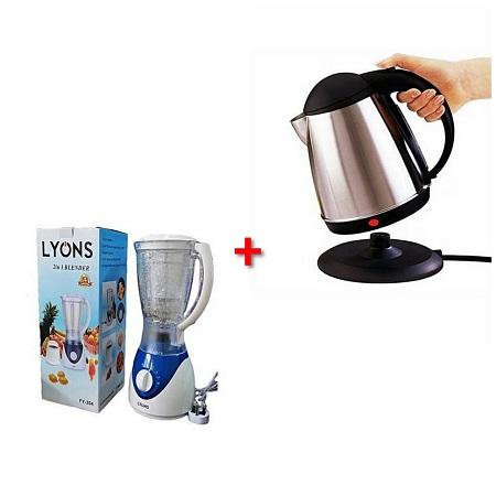 2 in 1 Lyons Blender + Electric Kettle