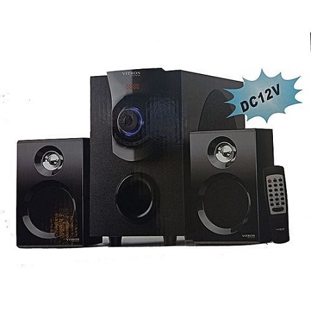 Vitron 411 Multi-Media Sub-woofer Speaker System Bluetooth\FM Radio\USB - 4500W PMPO -