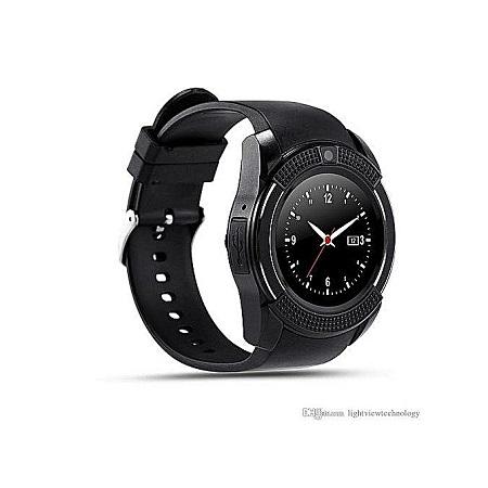 Sim Camera V8 Smart Watch -Black
