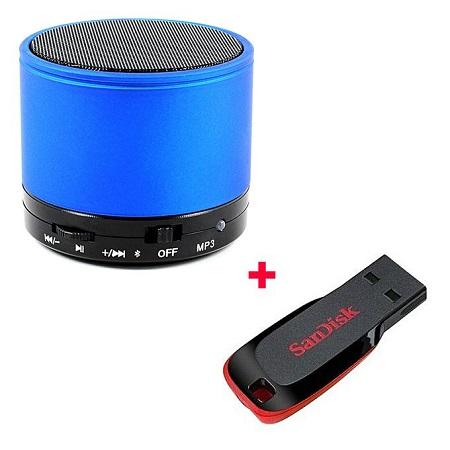 Mini Bluetooth Speaker Free 16gb Flash disk