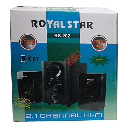 Royal 2.1CH Multimedia Speaker System - Black Bluetooth Enabled