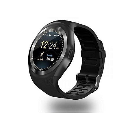 Smart Watch Y1 Sports Smart Phone Touchscreen Trendy Watch - Black
