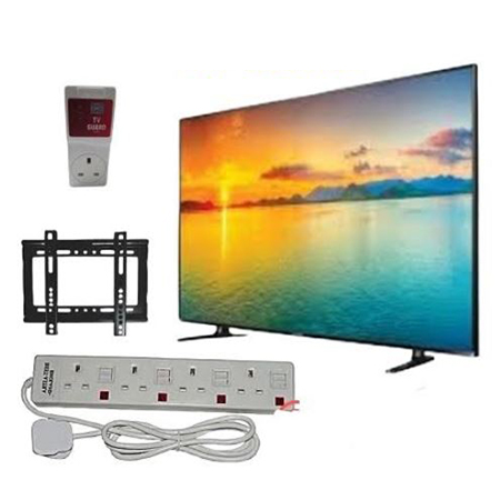 Vitron 32 Inch Digital Tv + Wall Bracket + Tv Guard + Extension