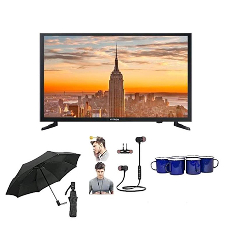 Vitron 24 Inch Digital Tv + FREE Umbrella, Bluetooth Earphones, Mabati Cups