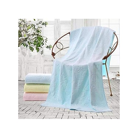 Soft Baby Cotton Towel - Baby Bath Towel - Light Blue