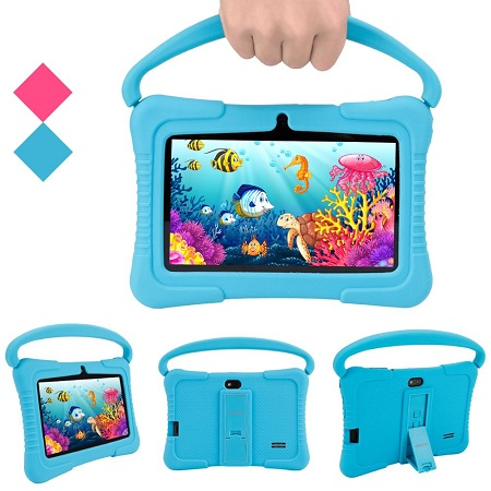 7 Inch New Kids Tablet Dual Camera with Learning Apps – Blue
