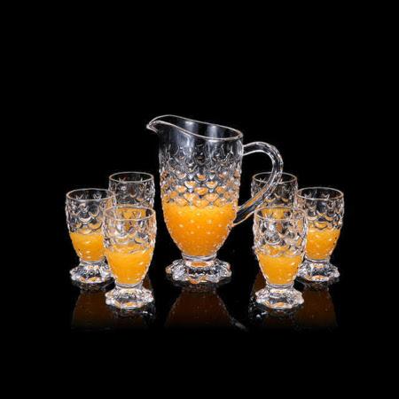7pc glass jug set glass