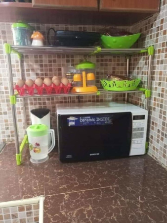 Microwave stand silver