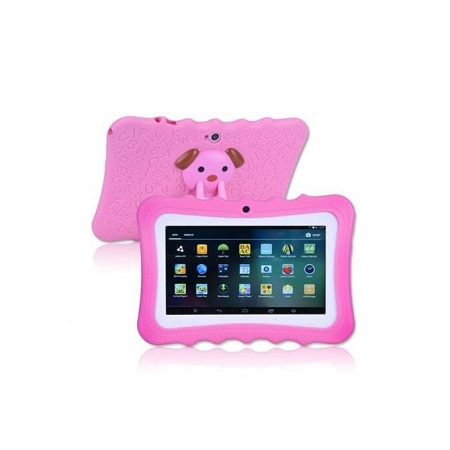 7 inch Quad Core Android Tablet for Kids Camera WiFi - Pink