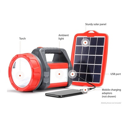 Dlight T200 Super Bright Dual Solar Torch