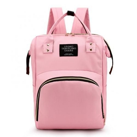 Fashion Backpack Mummy Diaper Nappy Bag - Pink