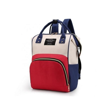 Fashion Backpack Mummy Diaper Nappy Bag - Red & Blue