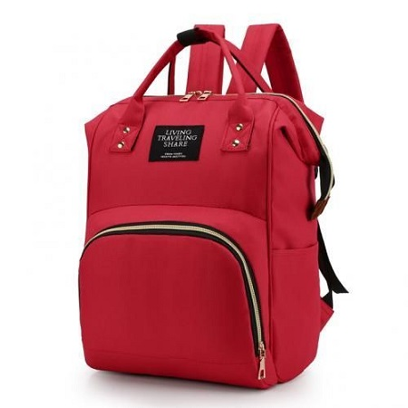 Fashion Backpack Mummy Diaper Nappy Bag - Red