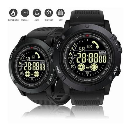 Tactical Fitness Bluetooth Luminous Intelligent Smart Watch – Black