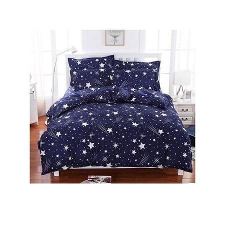 Blue & White Star Print Duvet 1 Bed sheet 2 Pillowcases