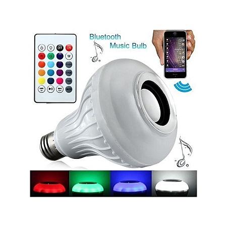 Color Bulb Light Bluetooth Control Smart Music Audio Speaker - White
