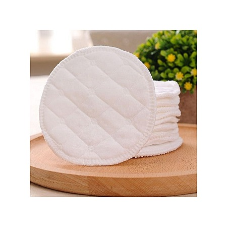 Soft Reusable Pure Cotton Breastfeeding 6 Layers Breast Pads Nursing Baby Absorbent