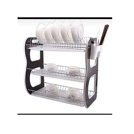Dish Rack / Utensils Rack 3 tier Stainless Steel with Drain Board