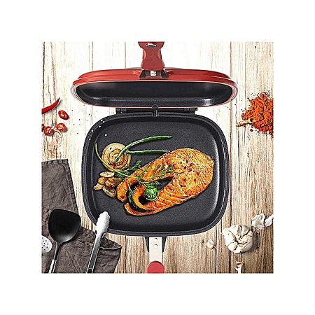 Dessini Double Grill Dessini Pan 36cm Red