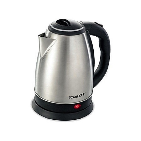 Scarlett Electric Kettle (Cordless) - 2Litres - Silver