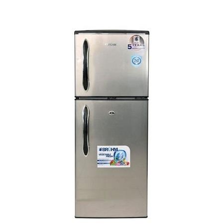 Bruhm BRD-140, Double Door Refrigerator, 120L - Inox