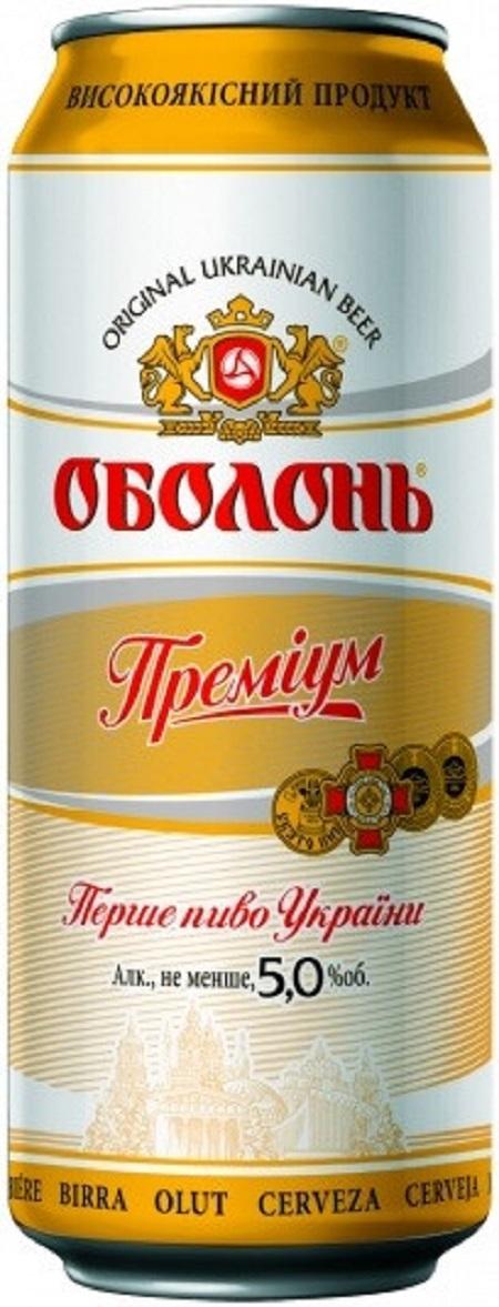 Obolon Premium 5%  0.5L Can