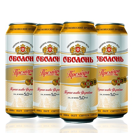 Obolon Premium 5% 0.5L Can - 4 pack