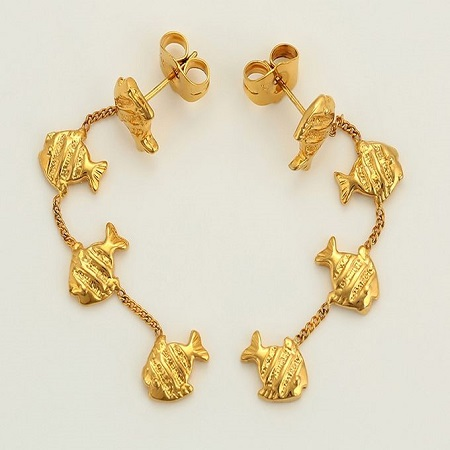 Carjay Jewels Gold Coated Stylish Drop Earring