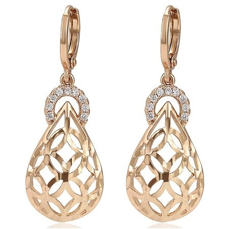 Carjay Jewels Gold Coated Stylish Drop Earrings