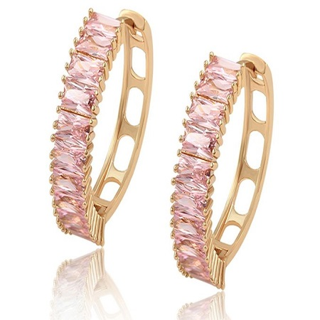 Carjay Jewels Gold Coated Elegant Earring Loops