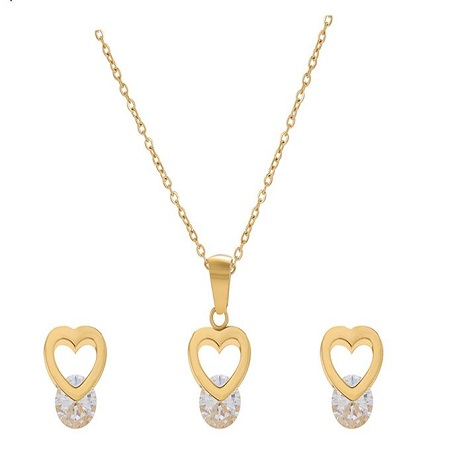 Carjay Jewels Gold Coated Stylish Necklace set