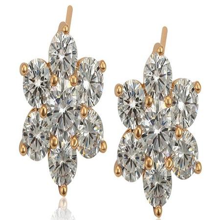 Carjay Jewels Gold Coated Stylish Earring Studs.