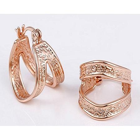 CarJay Jewels Rose Gold Earrings