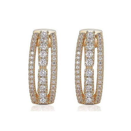 CarJay Jewels Gold Earring Hoops