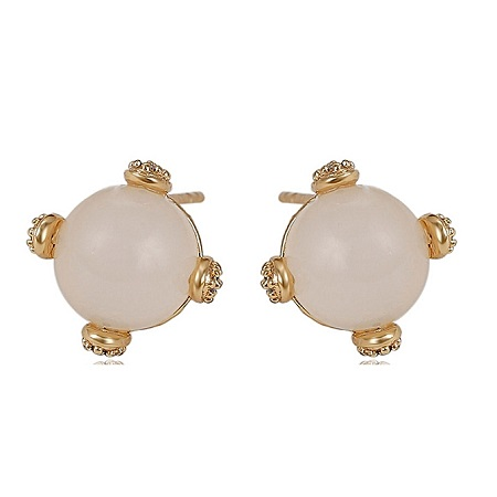 CarJay Jewels Gold Coated Earring Studs