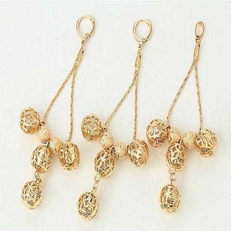CarJay Jewels Gold Coated Stylish Earring Loops Plus Free Pendan