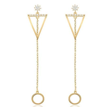 CarJay Jewels Gold Coated Earrings