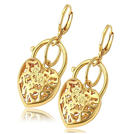CarJay Jewels Gold Coated Earrings