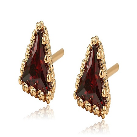 CarJay Jewels Gold Coated Earring Studs L