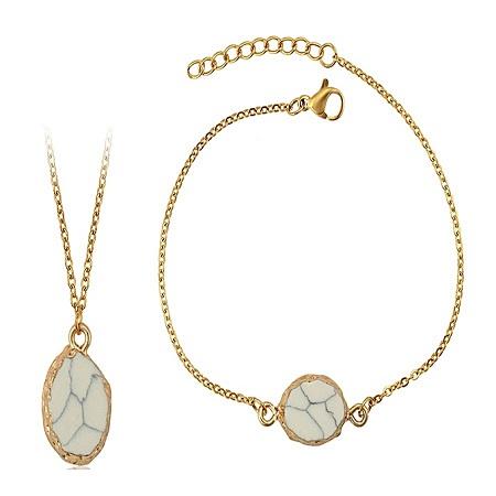 CarJay Jewels Gold Coated Necklace + Gold Coated Bracelet