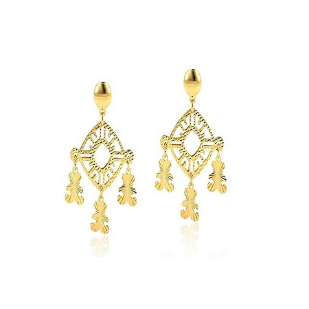 CarJay Jewels Gold Coated Earring studs loops